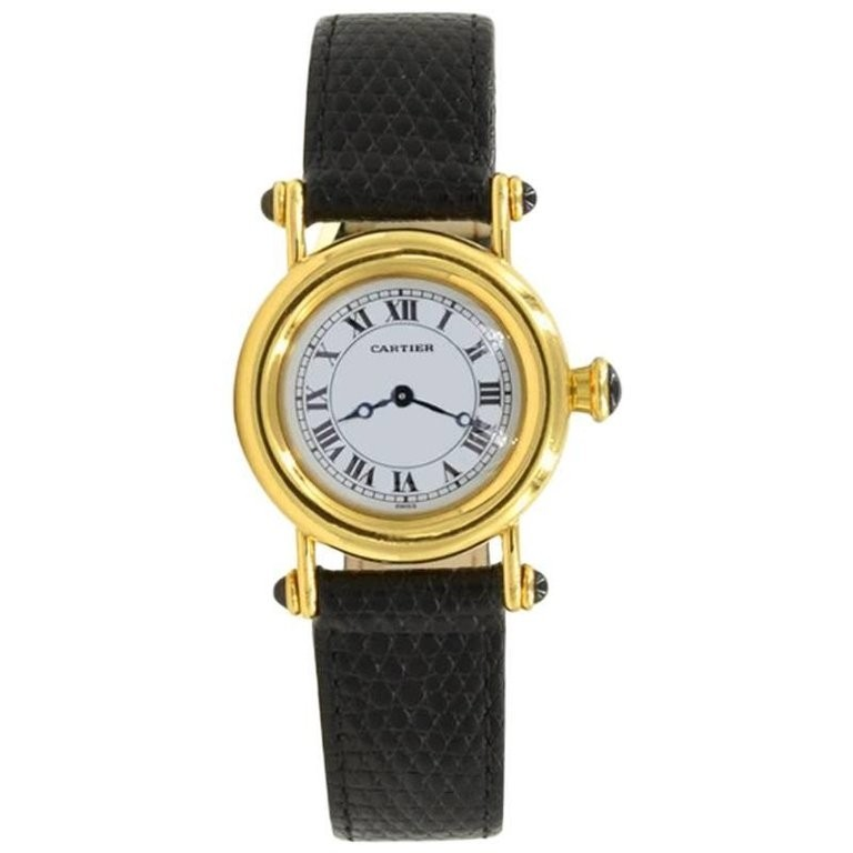 Cartier Diabolo Ladies 18K Yellow gold Wristwatch