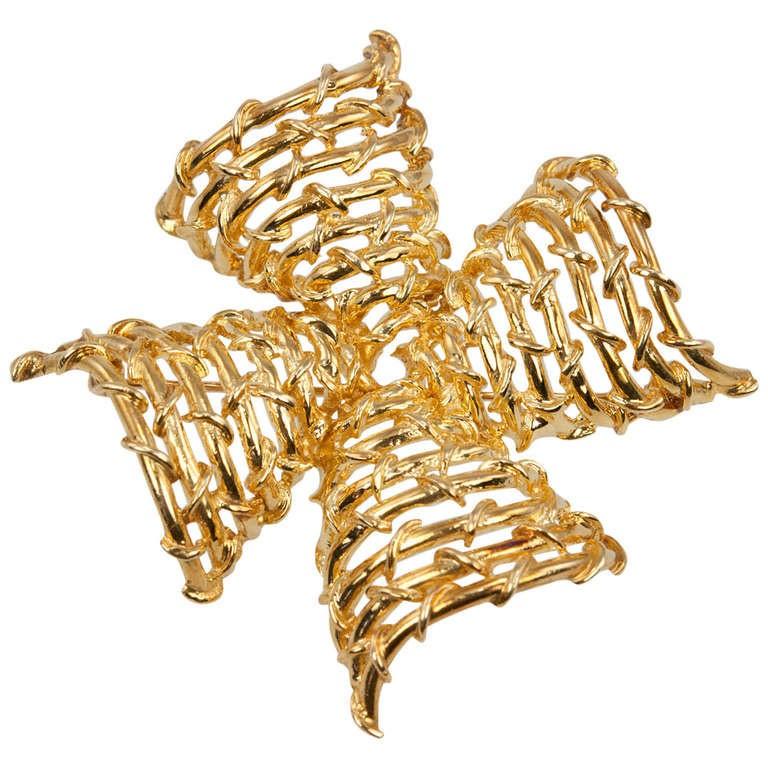 Tiffany & Co. Gold Maltese Cross Brooch
