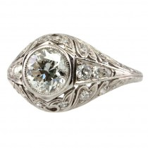1CT Diamond Early 1900's Ring