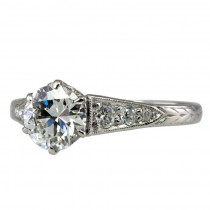 Lovely Early 20th Century 0.89ct Diamond Ring