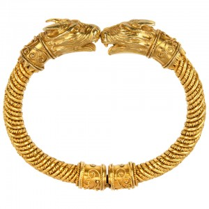 Etruscan Revival 18K Gold Bracelet