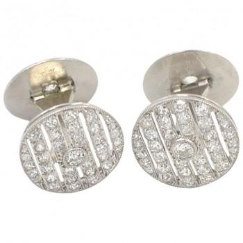 Cartier Art Deco Diamond and Platinum Cufflinks