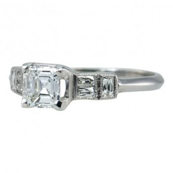 Asscher Cut Diamond Ring